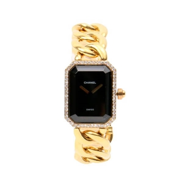 Chanel 18K Diamond Premier M Chain Strap Gold Vintage Watch