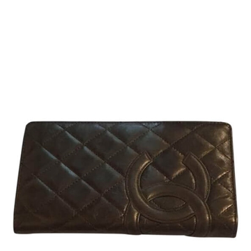 Chanel lambs leather golden brown vintage wallet
