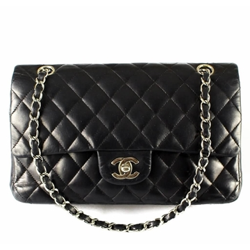 Picture of Chanel Classic Flap Black Lambskin Leather Handbag