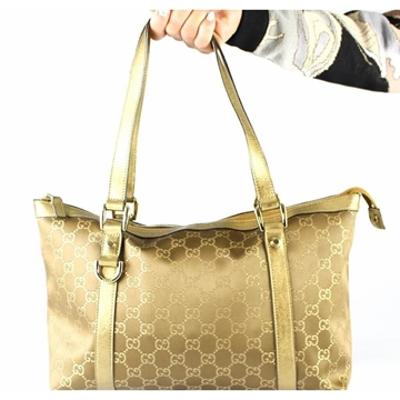 Gucci GG Abbey Small bronze brown vintage Tote bag