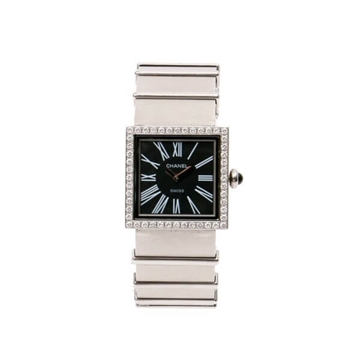 Chanel Moselle stainless steel & diamond vintage watch