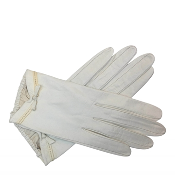 Christian Dior for Neiman Marcus 1950s leather white vintage gloves