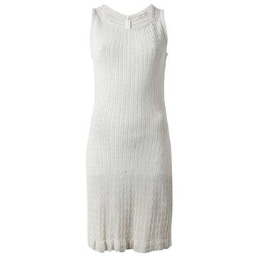 Alaia 1990s Iconic Cable knit Sleeveless Cement Grey Vintage Mini Dress