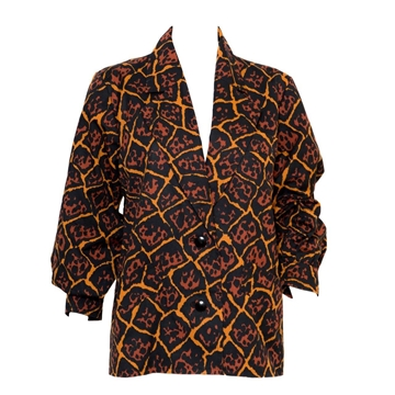 Yves Saint Laurent 1989 Cotton Ethnic style vintage Jacket