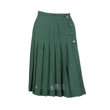 Yves Saint Laurent 1980s Pleated Wrap  Emerald Green vintage Skirt