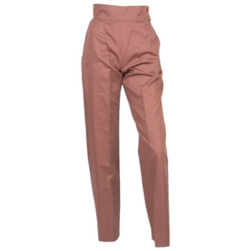 Yves Saint Laurent High Waist Cotton nut brown vintage trousers