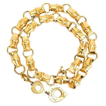 Yves Saint Laurent Bamboo Link Gold Tone Vintage Chain Belt