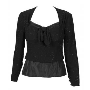 Christian Dior Haute Couture Winter 1988-1989 Black Sequined vintage Top