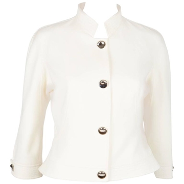 Thierry Mugler Couture Runway Cream vintage Jacket