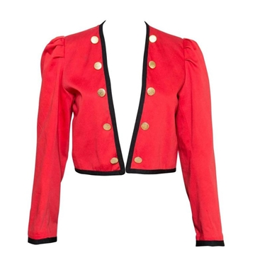 Yves Saint Laurent 1980s Bolero style red vintage Jacket