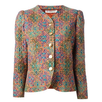 Yves Saint Laurent Iconic Multico Printed Quilted vintage Jacket