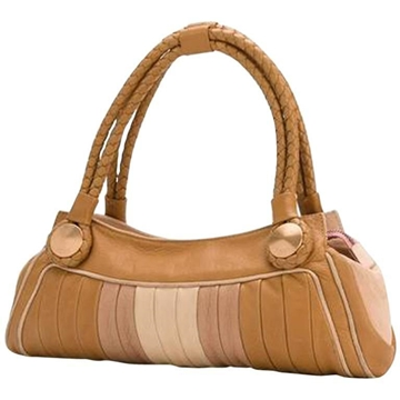 Fendi Leather Baguette style pastel vintage Tote Bag