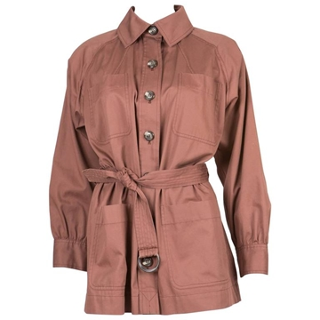 Yves Saint Laurent rare Cotton nut brown vintage Safari Jacket