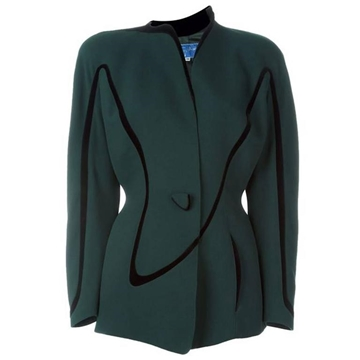 Thierry Mugler 1980s Iconic Green vintage Jacket
