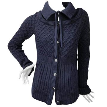 Celine Knitted wool Navy Blue Vintage Cardigan