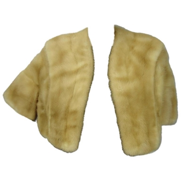 Vintage Cream Mink cropped capelet Jacket