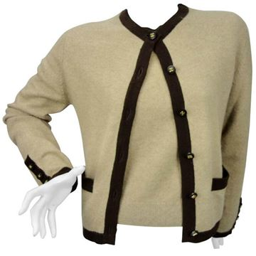 Chanel 1990s Cashmere knitted Beige Vintage Twinset