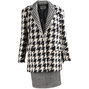 Gianfranco Ferre 1980s Wool monochrome Jacket & Skirt suit