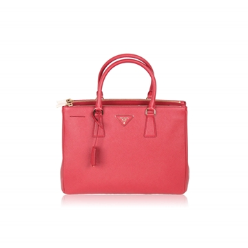 Prada Fuoco Saffiano Lux Leather red vintage Tote bag