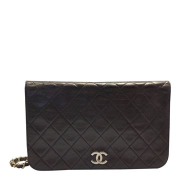 Chanel classic lambs leather brown vintage shoulder bag