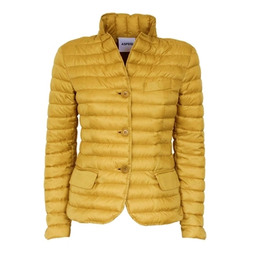 Alberto Aspesi Gallinella Yellow Vintage Down Jacket