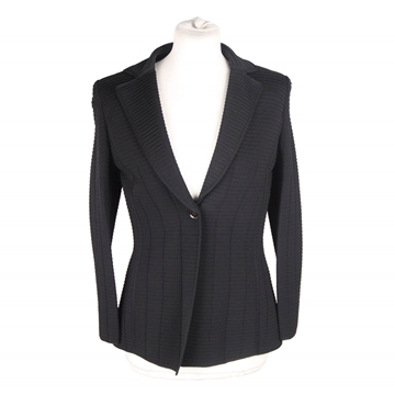 Giorgio Armani Black Label Textured Black Blazer Jacket