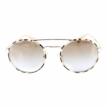 Prada Round Frame with Brow Bar White and Brown Vintage Sunglasses