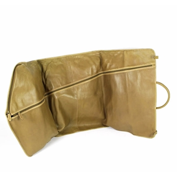 Gucci Leather Olive Brown Vintage Garment Cover