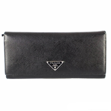 Prada Saffiano Leather Black Vintage Wallet