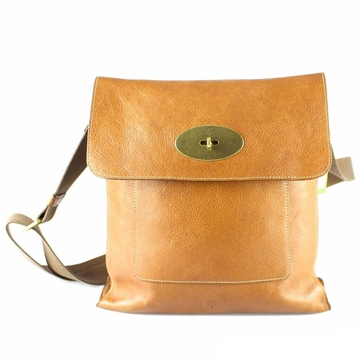 Mulberry Anthony Tan Brown Vintage Cross Body Satchel Bag
