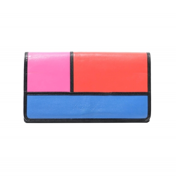 Yves Saint Laurent  Mondrian Inspired Block Coloured Vintage Wallet Purse