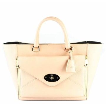 Mulberry Willow Dust Pink Vintage Tote Handbag