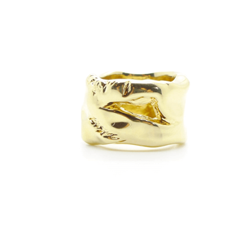 Christian Lacroix Baroque Gold vintage Band Ring