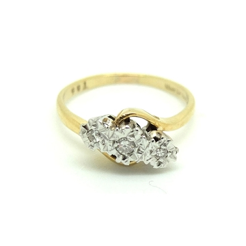 vintage-1980s-triple-diamond-9ct-gold-ring