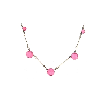 vintage-art-deco-1930s-rolled-gold-pink-glass-necklace