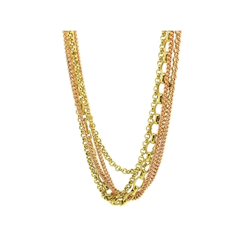 Monet 1940s Gold Plated Vintage Multi Chain Necklace