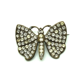 Vintage 1930's Diamante Butterfly Brooch