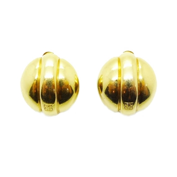 Givenchy Small Circular Gold Vintage Earrings