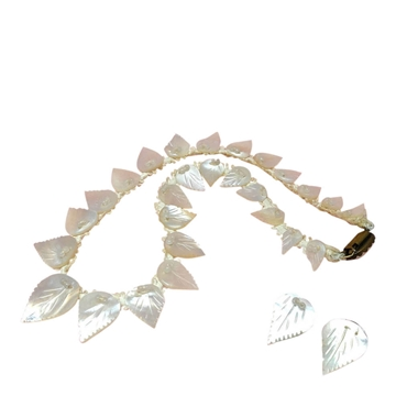 Picture of Vintage 1930s Art Deco Mother of Pearl Necklace & Earrings