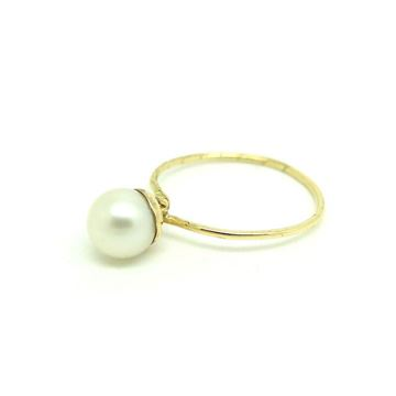 Antique Victorian Pearl Conversion 9ct Yellow Gold Ring