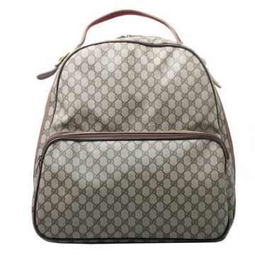 Gucci GG Monogram Travel Backpack Brown Vintage Bag