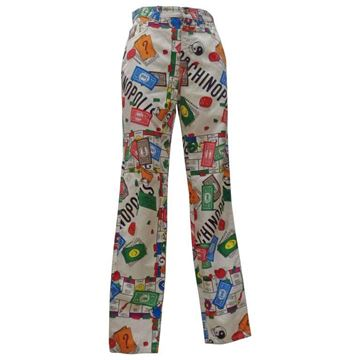 "Moschino ""Moschinopoly"" Collection White Vintage Jeans Trousers"