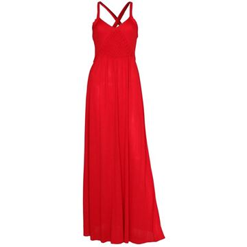 Bruce Oldfield 1970s Plaited Bodice Red Vintage Evening Gown