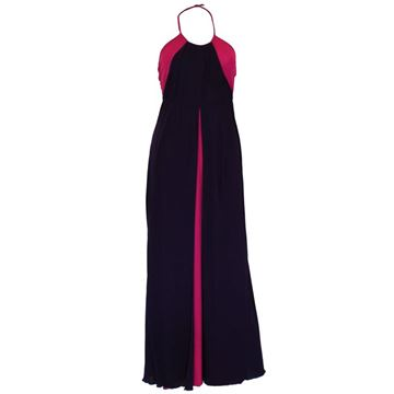 Bruce Oldfield 1970s Halterneck Deep Purple Vintage Evening Gown