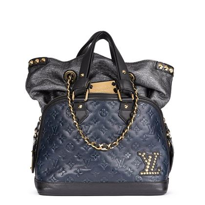 f9df4187fba ... blue-black-monogram-embossed-calfskin-leather-double-jeu- · Louis  Vuitton